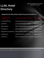 llnl hotel directory