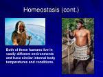 homeostasis cont