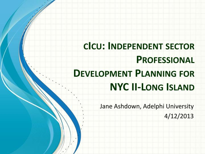 cicu independent sector professional development planning for nyc ii long island n.