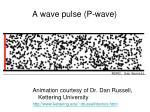 a wave pulse p wave