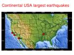 continental usa largest earthquakes