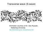 transverse wave s wave