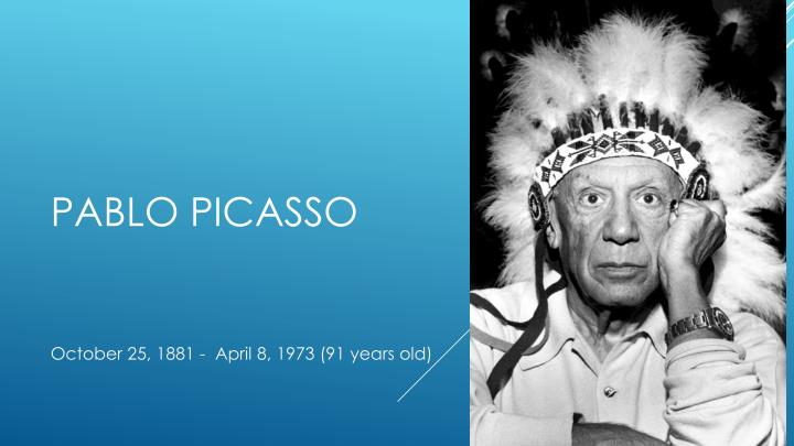 pablo picasso n.