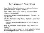 accumulated questions