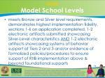 gold model school levels