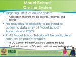 model school on line system