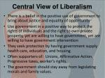 central view of liberalism