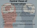 central views of conservatism
