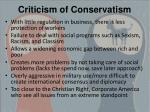 criticism of conservatism