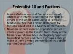 federalist 10 and factions
