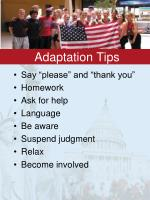 adaptation tips