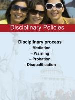 disciplinary policies