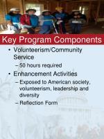 key program components
