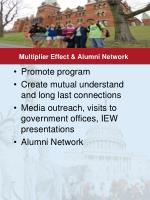 multiplier effect alumni network
