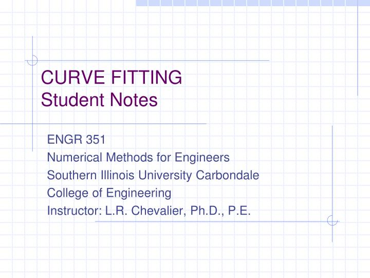 curve fitting student notes n.