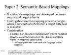 paper 2 semantic based mappings