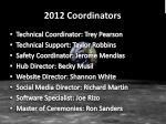2012 coordinators
