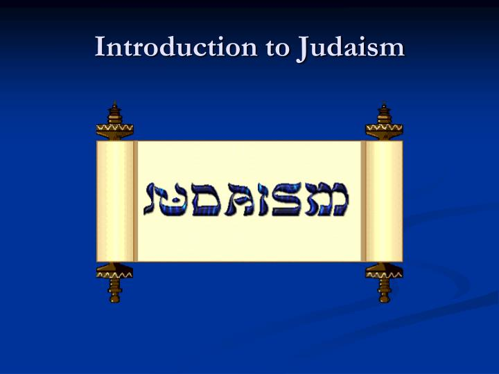 introduction to judaism n.