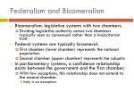 federalism and bicameralism