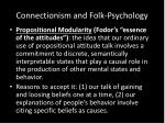 connectionism and folk psychology1