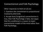 connectionism and folk psychology9