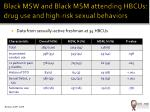 black msw and black msm attending hbcus drug use and high risk sexual behaviors
