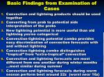 basic findings from examination of cases
