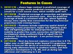 features in cases