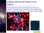 a black hole at the center of our galaxy