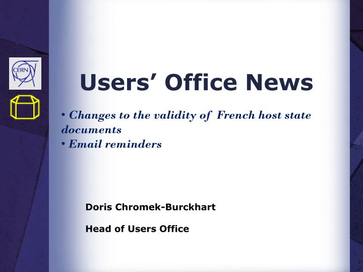 Users office news