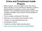crime and punishment inside prisons