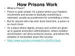 how prisons work