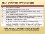 year end dates to remember1