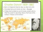 charles darwin 1809 1882