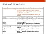 additional competencies