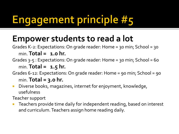 Engagement principle #5