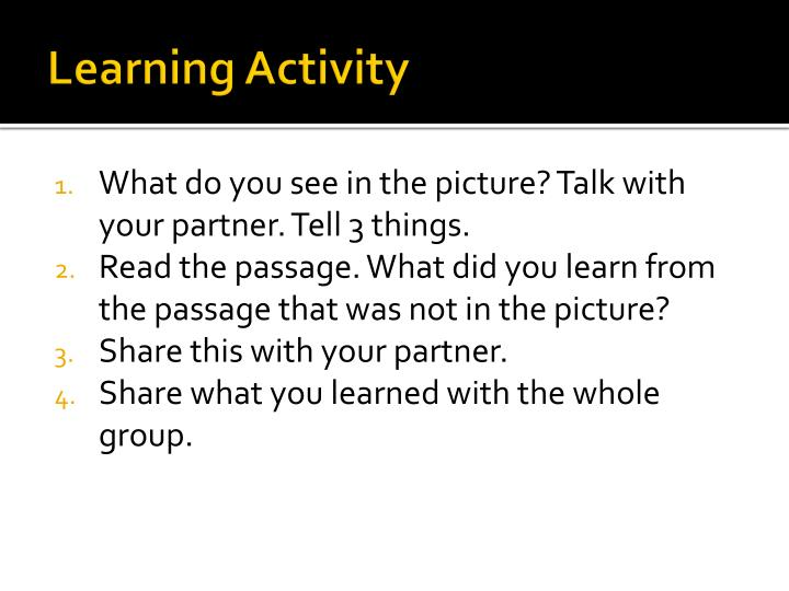 Learning Activity