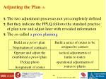 adjusting the plan 3