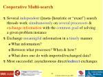 cooperative multi search