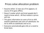 prices solve allocation problem
