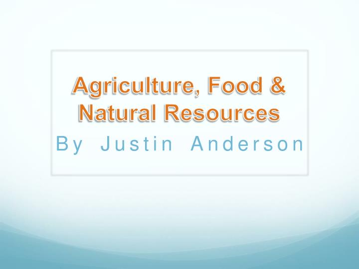 agriculture food natural resources n.