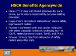 hsca benefits agencywide