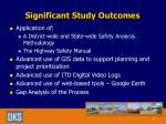 significant study outcomes