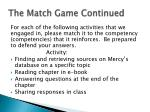 the match game continued