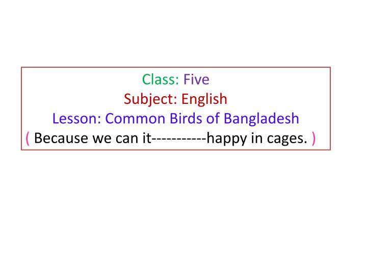 Class: