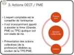 3 actions oect pme