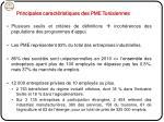 principales caract ristiques des pme tunisiennes