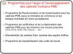 programmes pour l appui et l accompagnement des cabinets tunisiens pme