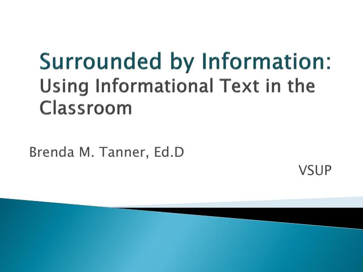 surrounded by information using informational text in the classroom n.