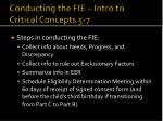 conducting the fie intro to critical concepts 5 71